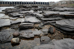 水坝干燥河 库存图片