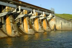 水坝水库 库存图片