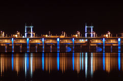 水坝电水力发电 库存照片