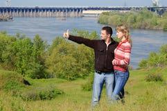 水坝的对 免版税库存图片