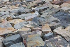 水坝石头 免版税库存照片