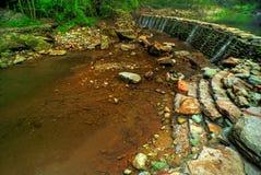 水坝石头 免版税图库摄影