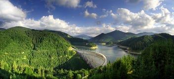 水坝draganului全景罗马尼亚valea 库存照片