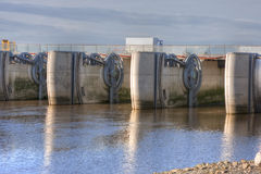 水坝michel mont圣徒 库存照片