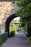 水城市莱比锡旅游聚焦 免版税库存照片
