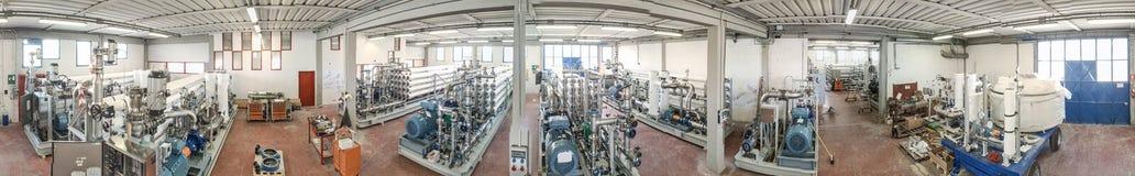 水处理厂的, wa全景鸟瞰图机械  库存图片
