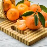 水多和新鲜的蜜桔 库存照片