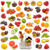 水多收集的新鲜水果 库存照片