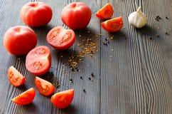 水多的成熟蕃茄 免版税库存照片