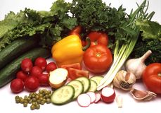 水多的蔬菜 免版税库存照片