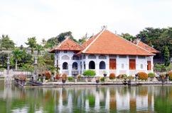 水宫殿在巴厘岛,印度尼西亚 库存照片