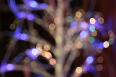 水平圣诞灯的背景 免版税库存照片