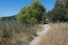 水平湖罗伯特足迹,新墨西哥 库存照片