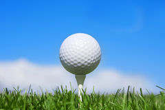 水平球的高尔夫球 库存图片