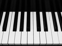 水平的关键字钢琴视图 免版税库存照片