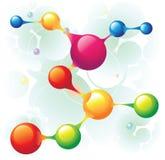 水平的分子 向量例证