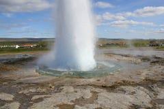 水平的喷泉 免版税库存照片