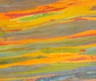 水平的彩虹玉树吠声 免版税库存照片