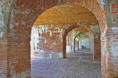 水平的拱道 免版税库存图片