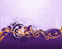水平的模式紫色 图库摄影