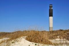 水平的海岛灯塔橡木 库存照片