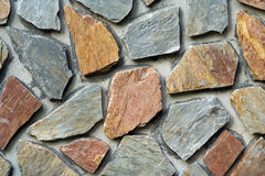 水平的石墙 免版税库存图片