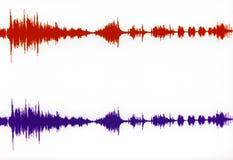 水平的立体声波形形式 免版税库存图片