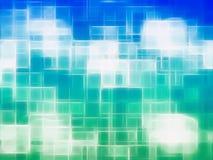 水平的蓝色和绿色帆布纹理元素 库存图片