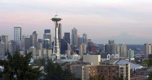 水平的西雅图 免版税库存图片