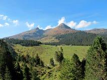 水平的jungfrau山风景视图 免版税库存照片