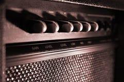 水平amp的吉他 库存照片