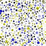 水彩五彩纸屑无缝的样式 免版税库存图片