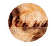 水彩例证-太阳系行星 免版税库存图片