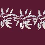水彩典雅的叶子汇集水彩典雅的叶子收藏 免版税库存照片