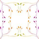 水彩叶子框架艺术 向量 免版税库存图片