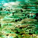 水彩在绿色的摘要纹理 皇族释放例证