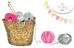 水彩套编织的工具和工艺 图库摄影