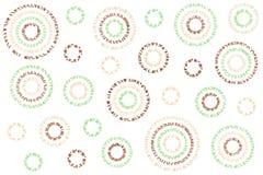 水彩抽象圈子样式 免版税图库摄影
