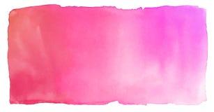 水彩抽象红色桃红色背景 免版税库存照片