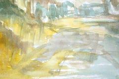 水彩抽象背景 库存图片