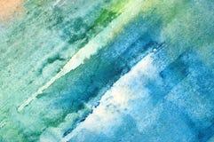 水彩抽象背景 免版税图库摄影