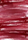 水彩摘要背景、手拉的水彩伯根地和白色纹理 皇族释放例证