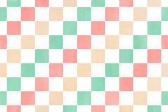水彩方形的样式 库存图片