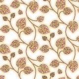 水彩无缝的叶子样式 向量例证