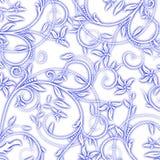 水彩无缝的样式 库存例证