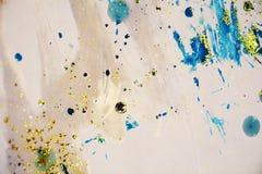 水彩淡色斑点闪耀的生动的形式蜡状的背景 库存图片