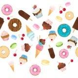 水彩甜点传染媒介样式 库存图片