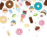 水彩甜点传染媒介样式 免版税库存图片