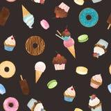 水彩甜点传染媒介样式 免版税库存照片