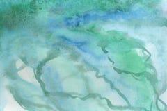 水彩背景例证 作为大理石纹理的水彩梯度 向量例证